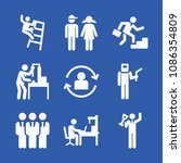 people related set of 9 icons...   Shutterstock .eps vector #1086354809