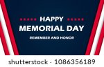 memorial day   remember and... | Shutterstock .eps vector #1086356189