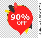 sale 90  off discount price tag ... | Shutterstock .eps vector #1086356765