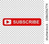 subscribe button icon. vector... | Shutterstock .eps vector #1086356774