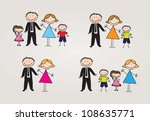different types of family.... | Shutterstock .eps vector #108635771