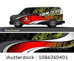 car wrap design vector. simple...   Shutterstock .eps vector #1086360401