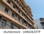 old building in san juan ... | Shutterstock . vector #1086362579