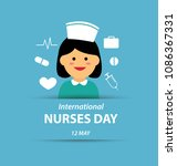 international nurse day | Shutterstock .eps vector #1086367331