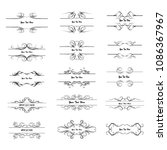 set of vector vintage frames on ...   Shutterstock .eps vector #1086367967