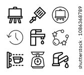 tool related set of 9 icons... | Shutterstock .eps vector #1086368789