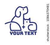 pet logo template | Shutterstock .eps vector #1086370481