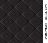seamless pattern. leather coach.... | Shutterstock .eps vector #1086371891