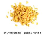 corn flakes isolated on white... | Shutterstock . vector #1086375455