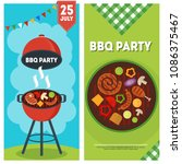 barbecue party vertical banners ... | Shutterstock .eps vector #1086375467