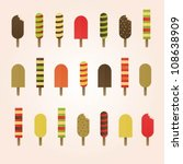 vector set of various colorful... | Shutterstock .eps vector #108638909