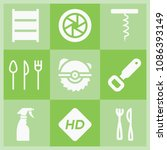 filled tool icon set such as... | Shutterstock .eps vector #1086393149