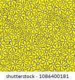 daisy seamless vector pattern....   Shutterstock .eps vector #1086400181