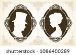 male and female profile in... | Shutterstock .eps vector #1086400289