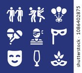 filled party icon set such as... | Shutterstock .eps vector #1086402875