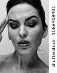 beauty model woman with long... | Shutterstock . vector #1086408401