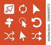 filled set of 9 arrows icons...   Shutterstock .eps vector #1086409571