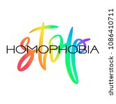 conceptual poster with lgbt... | Shutterstock .eps vector #1086410711