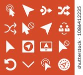 filled set of 16 arrows icons...   Shutterstock .eps vector #1086412235
