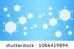 abstract hexagon background... | Shutterstock .eps vector #1086419894
