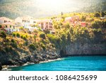assos  kefalonia island  greece. | Shutterstock . vector #1086425699