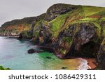 coastal cliffs in county antrim ...   Shutterstock . vector #1086429311