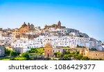 ostuni white town skyline ... | Shutterstock . vector #1086429377
