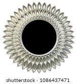 Modern Silver Round Mirror...