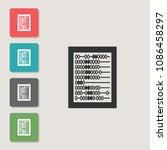 abacus   vector icon. symbol...