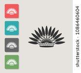 headdress of natives   vector... | Shutterstock .eps vector #1086460604