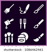 set of 9 brushes filled icons... | Shutterstock .eps vector #1086462461