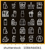 set of 25 drink outline icons... | Shutterstock .eps vector #1086466061