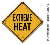 extreme heat vintage rusty... | Shutterstock .eps vector #1086468641