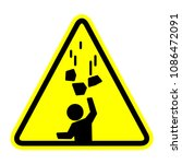 falling objects icon  vector... | Shutterstock .eps vector #1086472091