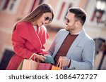 sale consumerism and people... | Shutterstock . vector #1086472727