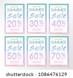 collection of multicolored... | Shutterstock .eps vector #1086476129