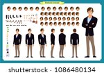 people character business set.... | Shutterstock .eps vector #1086480134
