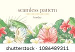 seamless border pattern with...   Shutterstock .eps vector #1086489311