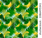 seamless pattern of banana with ...   Shutterstock .eps vector #1086495341