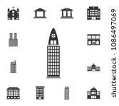residential building icon.... | Shutterstock .eps vector #1086497069