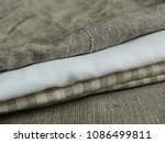 natural pure linen towels ... | Shutterstock . vector #1086499811