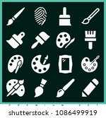 set of 16 art filled icons such ... | Shutterstock .eps vector #1086499919