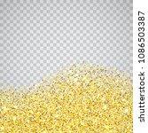gold glitter wave texture... | Shutterstock .eps vector #1086503387