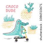 t shirt print design for kids...   Shutterstock .eps vector #1086510671