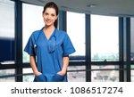 smiling nurse at the hospital | Shutterstock . vector #1086517274