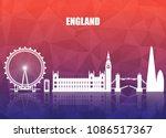 england landmark global travel... | Shutterstock .eps vector #1086517367