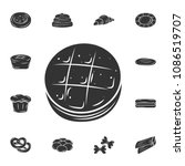 the baked icon. simple element...   Shutterstock .eps vector #1086519707