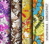 set of tracery colorful... | Shutterstock .eps vector #1086524417