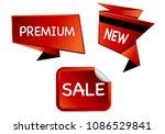 summer sale isolated vector... | Shutterstock .eps vector #1086529841
