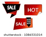 summer sale isolated vector... | Shutterstock .eps vector #1086531014